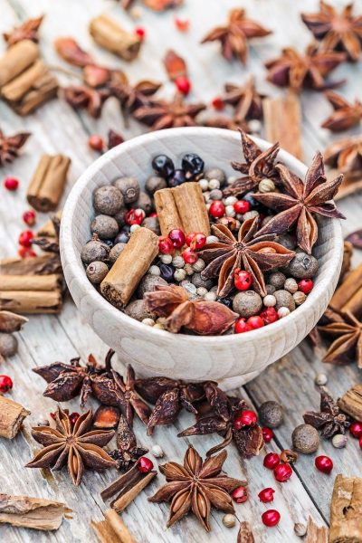 spice, bowl, cinnamon