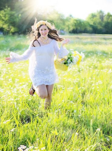 young woman, running, pretty woman